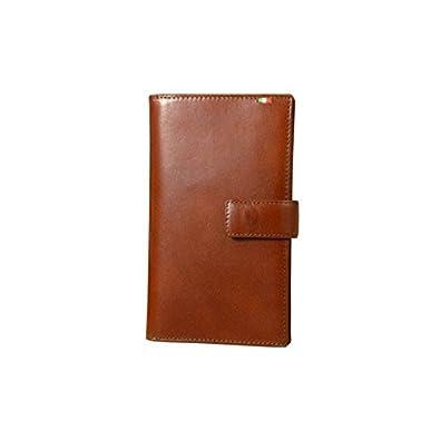ec9d0f925355 Amazon | Milagro ミラグロ タンポナートレザー 二つ折り 長財布 ロングウォレット 30枚カード収納 イタリア製ヌメ革 ブラウン  CA-S-2163-BR | 財布