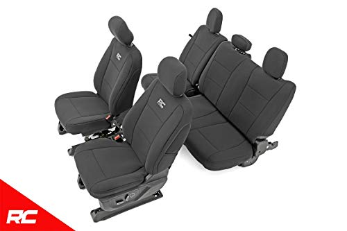 Rough Country 91018 Neoprene Seat Covers Black ((fits) 2015-2019 F150 (F-150) XL/XLT Water Resistant