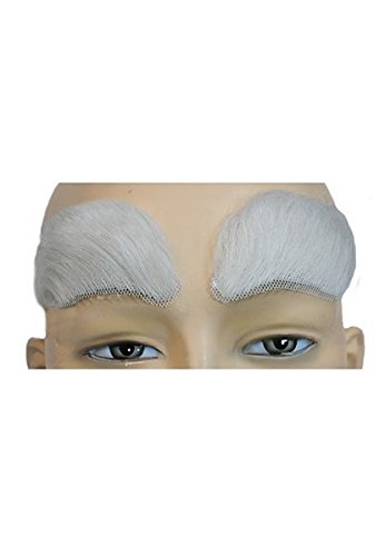 Morris Costumes Eyebrows Yak White