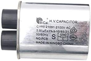 CH85-21091  2100VAC 0.91uF High Voltage Capacitor Model Microwave Oven H.V