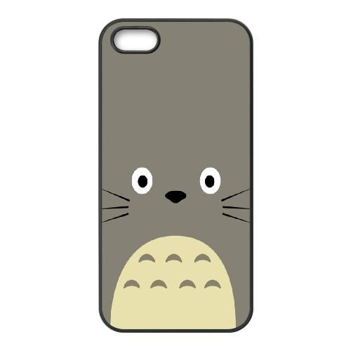 B1T15 Mon voisin Totoro Y2N7VW coque iPhone 5 5s cellulaire cas de téléphone couvercle coque noire DF3XNV4SE