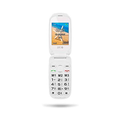 chollos oferta descuentos barato SPC Harmony Teléfono móvil Dual SIM Números y letras grandes 3 memorias directas 5 números SOS cámara de fotos Color Blanco