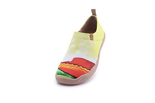 UIN Men's Hawaii Surfing Canvas Colorful Travel Loafer Shoes Yellow (9.5) by UIN (Image #2)