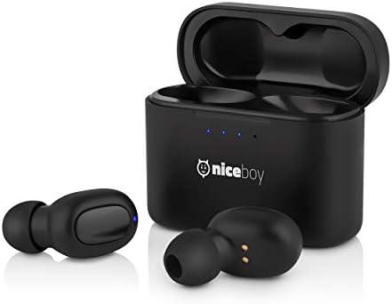 [Gesponsert]Niceboy® HIVE Podsie Wireless 5.0 Bluetooth Kopfhörer/Earbuds – Kabellos Ohrhörer und Wasserdicht, MaxxBass HD-Stereo und HD-Klangqualität mit Mikrofon