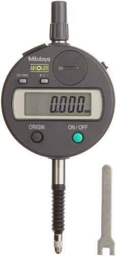 Mitutoyo 543-791B Absolute LCD Digimatic Indicator ID-S, M2.5X0.45 Thread, 8mm Stem Dia., Flat Back, 0-0.5