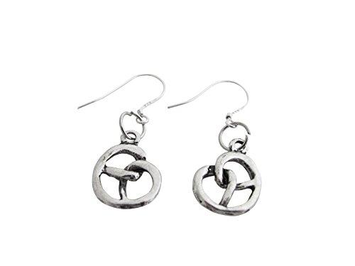 Ladinelle Ohrringe Ohrhänger Damen Schmuck Trachtenschmuck Dirndl Tracht Wiesn Oktoberfest Ohrringe Brezel 925 Silber Ohrhaken