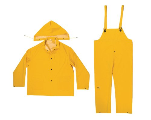 3 Pc. PVC / Poly Heavy Duty Yellow Rainsuit (Small) by Boston Industrial