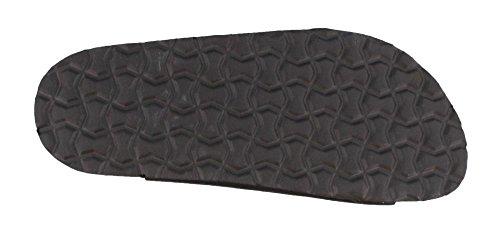 Cushionaire Dames, Rijstrook Sandalen Zwart