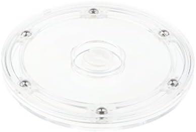 Loviver Draaitafel voor computertv 360 graden draaibaar transparant