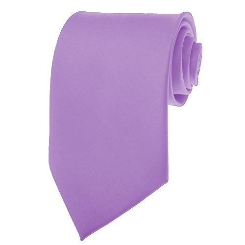 NEW SOLID Violet Purple SATIN Mens Necktie Neck (Violet Solid Tie)