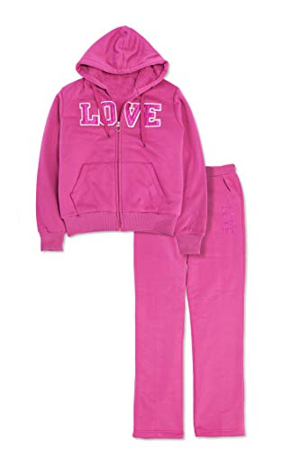 Womens 2 Piece Tracksuit Sweatsuits Fleece Outfit Hoodie & Pants Long Sleeve Sweatshirt Set ()