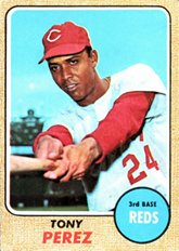 - 1968 Topps Regular (Baseball) Card# 130 Tony Perez of the Cincinnati Reds VG Condition