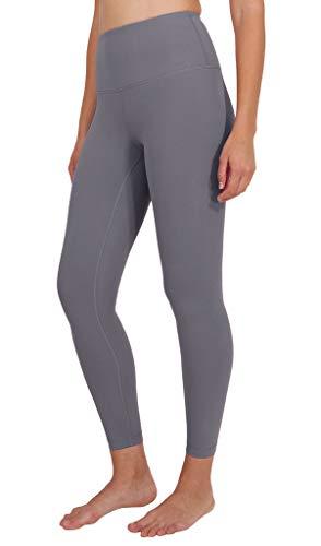 90 Degree By Reflex High Waist Power Flex Legging - Tummy Control - Grey Opal Ankle - Large