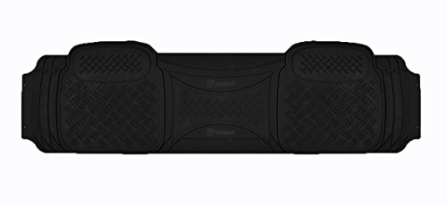 (Zone Tech Heavy Duty Solid Black Rubber Automotive Universal 1 Piece Runner Floor Mat)