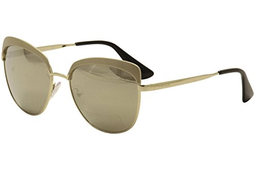 Prada Gold Lens (Prada PR51TS VAQ1C0 Metallized Pale Gold PR51TS Round Sunglasses Lens Category)