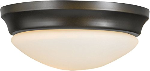 Murray Feiss Bronze Ceiling Light - Feiss FM271ORB Barrington Glass Flush Mount Ceiling Lighting, Bronze, 1-Light (10
