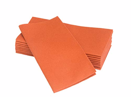 Simulinen Dinner Napkins - Disposable, Terracotta, Cloth-Like - Elegant, Yet Heavy Duty Soft, Absorbent & Durable - 16
