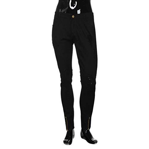 Dei Otturatore Hren Denim Elastica Moda Nero Del Motociclista Rt Pantaloni Di Sommerhose Uomini E Uomo Fit Slim Con Svago Jeans wq7TSS