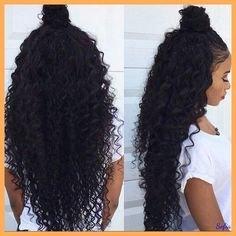 Peluca Natural de pelo negro rizado 100% brasileño y humano, pelucas de encaje