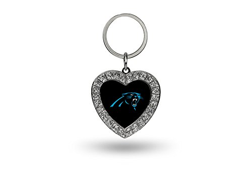 Rico NFL Carolina Panthers Rhinestone Heart Keychain ()