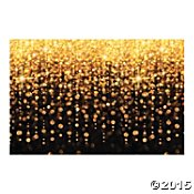 Fun Express Celebration Lights Plastic Backdrop Banner (New Years Eve Decorations)