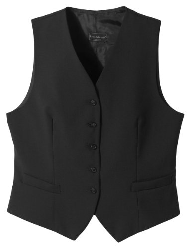 Ed Garments 7680 Women's High Button Vest - Black - XX-Large (Lined Lined Fully Vest)
