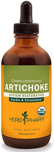 Herb Pharm Certified Organic Artichoke Liquid Extract for Cardiovascular and Circulatory Support – 4 Ounce