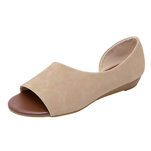 Answerl Women Flats Sandals Boots Low Heel Open Toe Sandals Shoes Slides Slip-On Outdoors Retro Booties