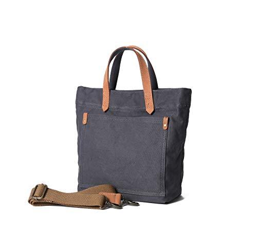 Jeelow Small Canvas Tote Bag Shoulder Bag Handbag Crossbody Bags For Men & Women Adjustable Removable Strap (Grey 2) ()