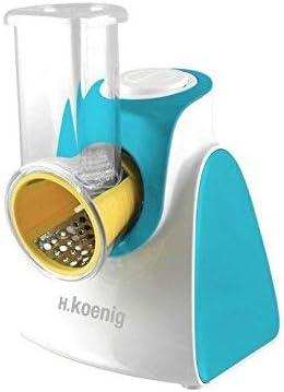 H.Koenig FRSH500 FRSH500-Rallador eléctrico, Color Azul, Acero ...