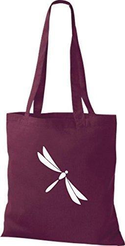 Shirtinstyle - Bolso de tela de algodón para mujer - borgoña