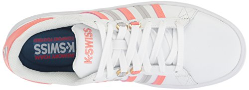 Vapor Coral K Womens Burnt White Blue Swiss Sneaker Pershing Court CMF w76Hwq