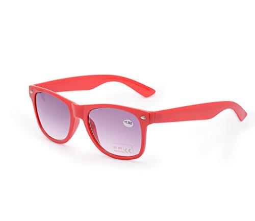 marca 4sold sol sol Estilo gafas Reader Unisex nbsp;marrón lectores 5 1 de lectura gafas UV nbsp;fuerza hombre de Mujer para Rosso de UV400 4sold carey rwanBq8Ew
