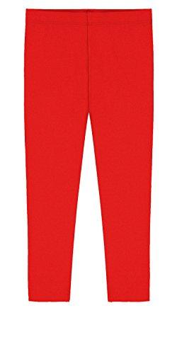 Popular Big Girls' Cotton Capri Length Leggings - Red - 16 ()