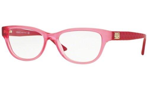 Eyeglasses Versace VE 3204 5121 MATTE TRANSPARENT - Glasses Pink Versace