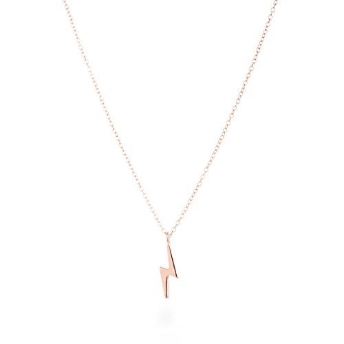 """Colgante de plata dorado en oro rosa, en forma de rayo,""""Ray"""". LUXENTER"""