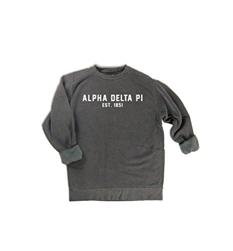 Alpha Pullover - Comfort Colors Alpha Delta Pi EST. 1851 Sweatshirt | Sorority Sweatshirt (Medium)