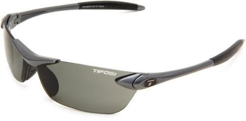 Tifosi Seek 0180500351 Polarized Wrap Sunglasses,Gunmetal Frame/Smoke Lens,One Size