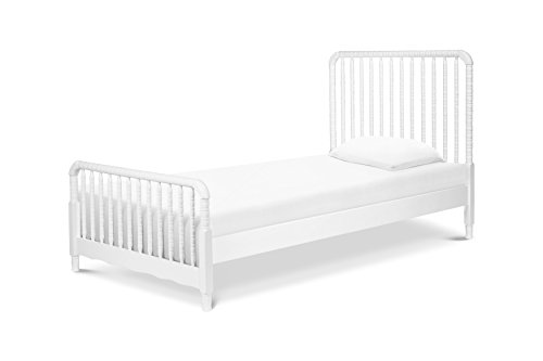 (DaVinci Jenny Lind Twin Bed with Wood Spindle Posts, Mattress Support Slats Included, White)