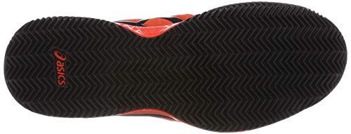 resolution Uomo 7 Tennis 801 Da Asics black Scarpe Gel Tomato Rosso Clay cherry 6wSqB1