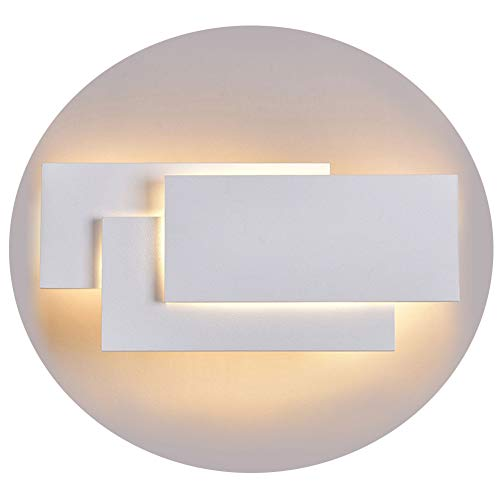 Ralbay 12W LED Wall Sconces Lighting Interior Wall Lamp Contemporary Wall Mounted Lamp With Aluminum Shell for Indoor Bedroom Hotel Light Bathroom Vanity Light 85V~265V AC (White 2700K-3200K) -