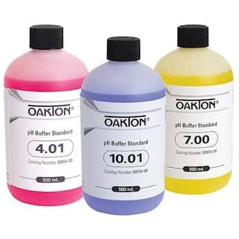 Oakton AO-05942-10 Oakton Buffer Pack; 500 mL of Each pH 4.01, 7.00, and 10.01 (Pack of 3)