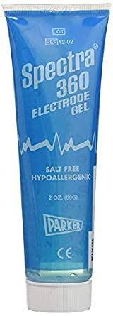 Spectra par12-02 Parker Laboratories 360 Electrode Gel, 2 Oz. Tube, Clear