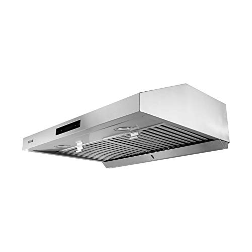 VESTA 860CFM 30'' Stainless Steel Under Cabinet Range Hood 6 Speeds With Touch Screen Hard Wire