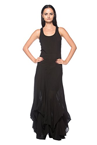 Women's Plus Black Steampunk Goth Antique Style Pick-Up Bustle Skirt Long Dress (2XL)