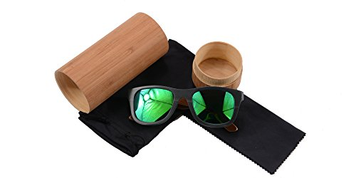 SHINU Handmade Wood Glasses Anti-Glare Polarized Wooden Sunglasses- Z68003 2 NATURAL WOOD-Genuine Wood Bamboo from Sustainable Resources. POLARIZED LENSES-Polarized UV400 Lenses Against Harmful UVA/UVB Rays. HIGH END HANDICRAFTS-Each Frame is Polished and Coated with A Water/Sweat Protective Layer.