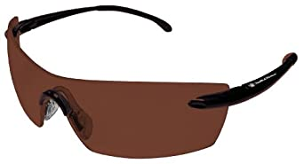 Smith & Wesson 23010 Caliber Safety Glasses, Brown Anti-Fog Lenses with Brown Frame