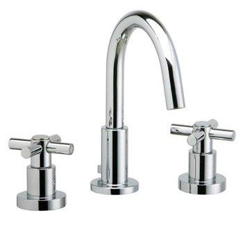 (Phylrich D135/004 Basic Satin Brass Widespread Bathroom Fauc)