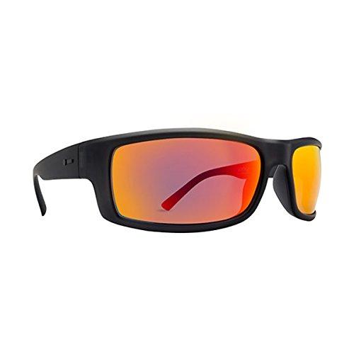 Dot Dash Gooch Adult Sunglasses, Soft Charcoal Satin/Red Chrome, One - Red Sunglasses Dot