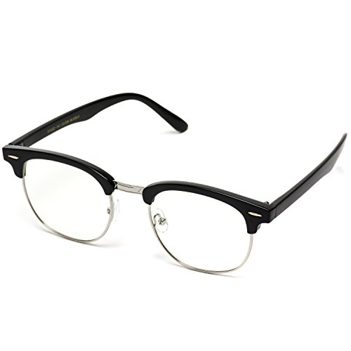 197aba225ed Vintage Inspired Classic Half Frame Horn Rimmed Clear Lens - Import It All